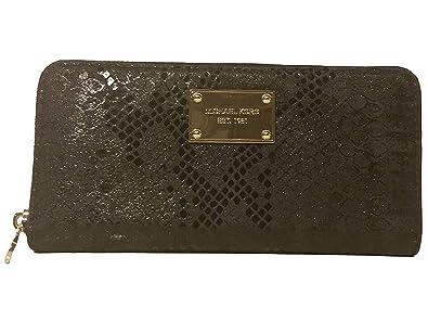 Michael Michael Kors Jet Set Embossed Leather Zip Around Continental ... 4aec7762282c