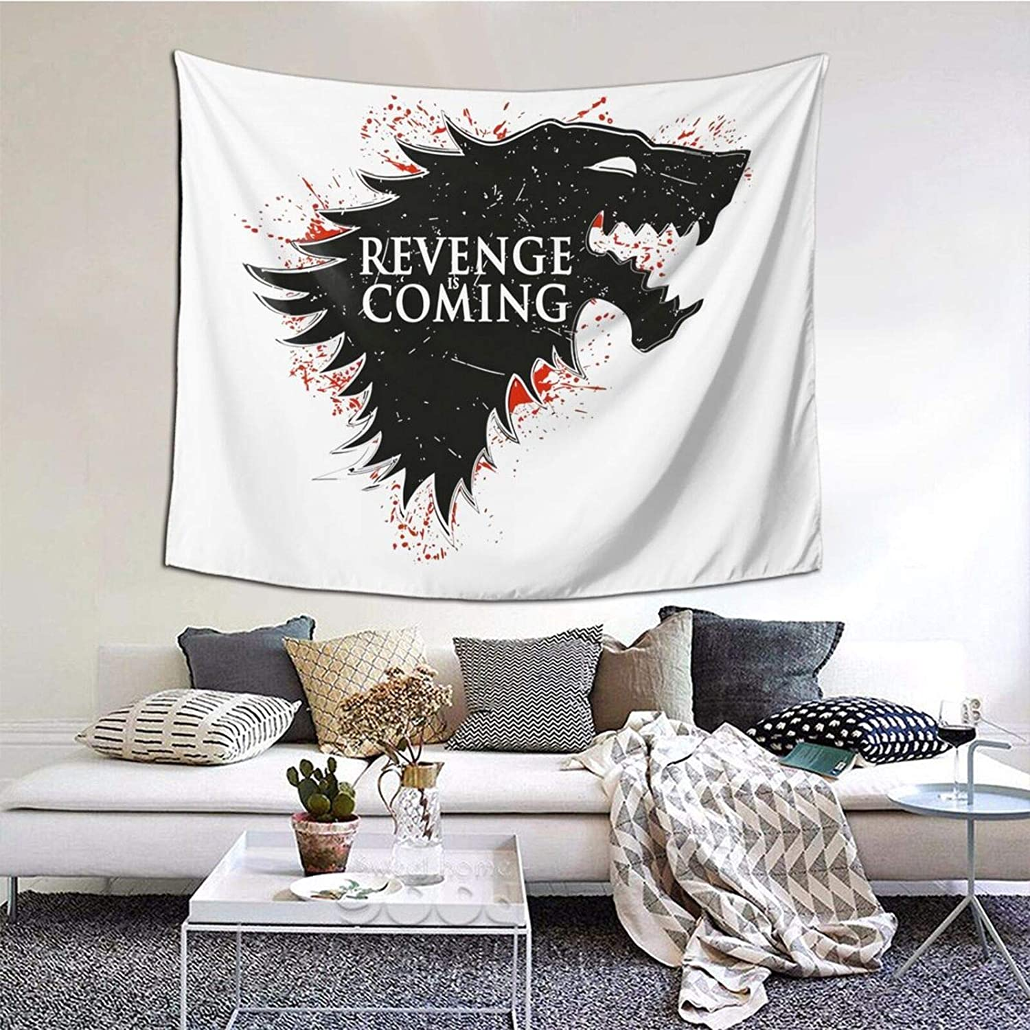 Amerltees Cool Not Today Game of Thrones Got Canvas 3D Printed Tapestry Room Outdoor Decor Wall Hanging Tapestry 60 51 Inch