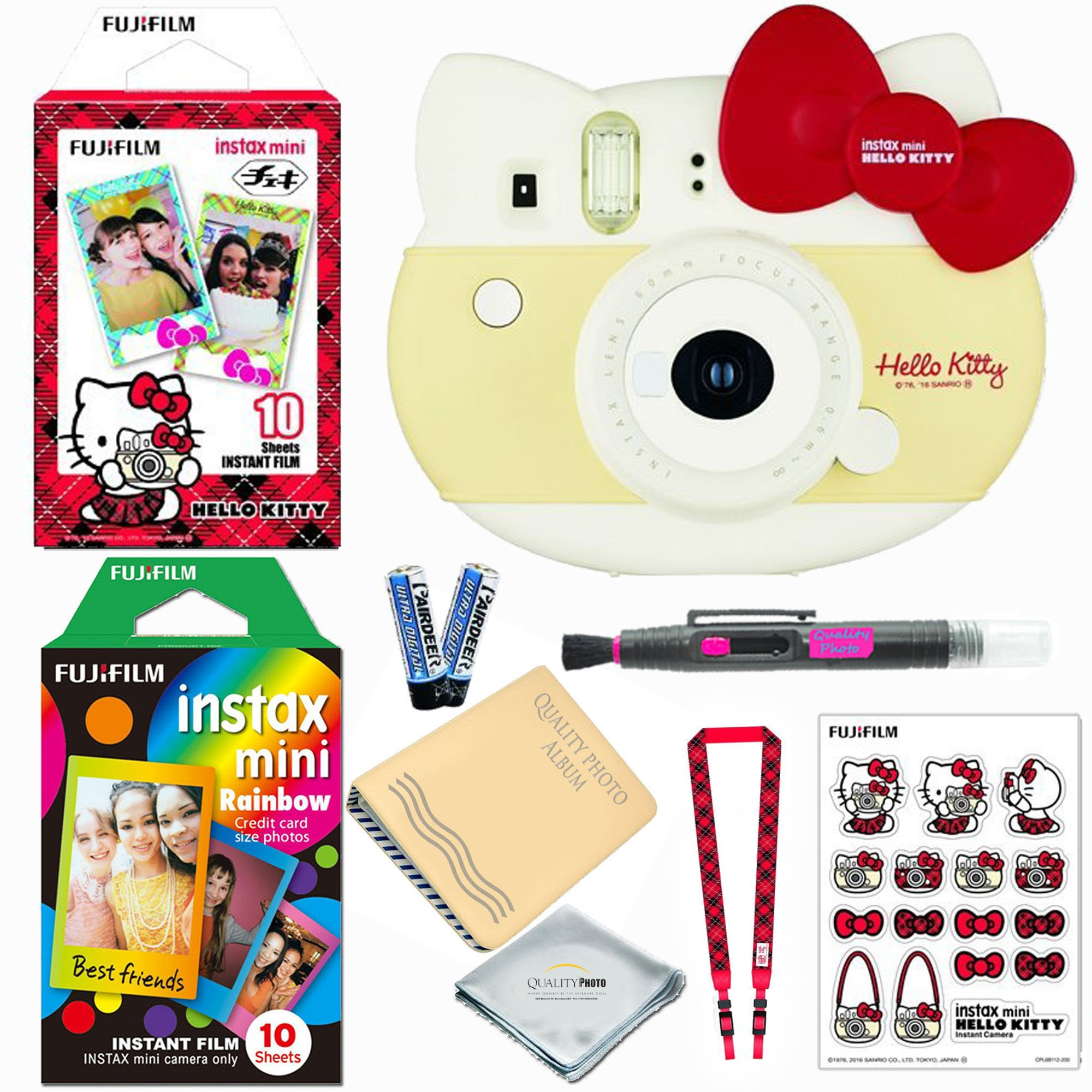 Fujifilm Instax Mini ''Hello Kitty'' Instant Camera (RED) LIMITED EDITION BUNDLE (Includes 20 instant Films) + Extra Accessories
