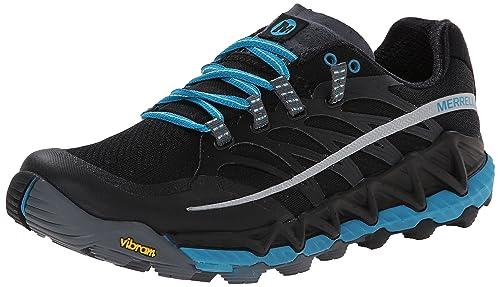 Merrell Out Peak, Scarpe da Trail Running Donna, Color Nero (Black/Algiers Blue), Talla 36