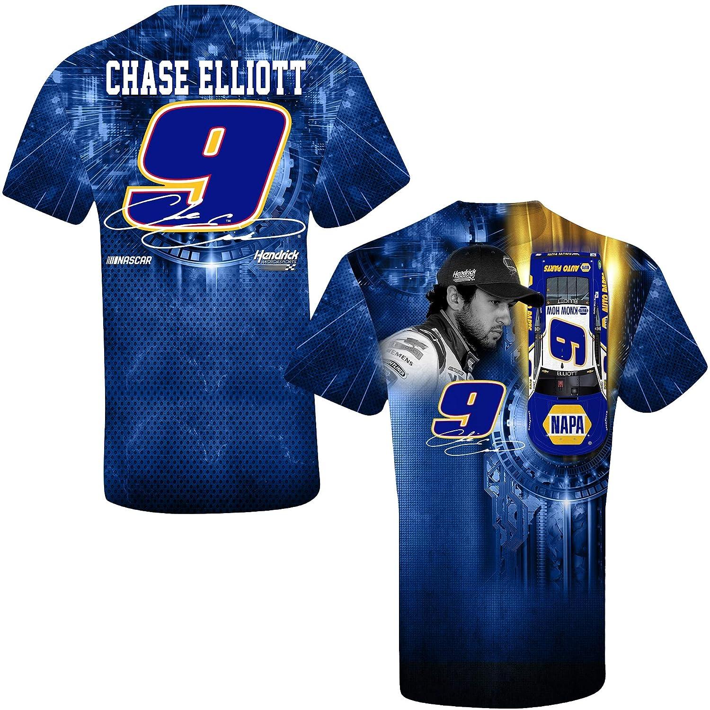 Chase Elliott T Shirt >> Smi Properties Chase Elliott 2019 Napa Sublimated Prism Nascar T Shirt