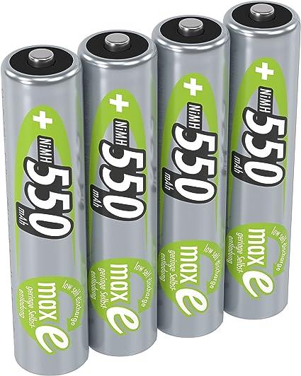 Ansmann 5030772 - Pack de 4 Pilas Recargables (AAA, 550 mAh, NiMH): Amazon.es: Electrónica