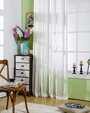 Aifish Solid Sheer Vorhang Fenster Behandlung Vorhänge Deko Sheer Gardine  Heraklithplatten Für Schlafzimmer Rod Tasche Voile