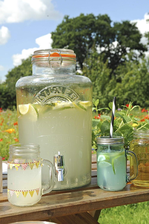 Kilner Clip Top dispensador de bebidas redondo P001 1 Litre Barrel 1 1 Litre Barrel
