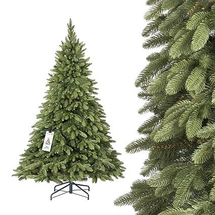 FairyTrees Árbol de Navidad Artificial Picea Alpino Premium, Material Mix PU y PVC, el