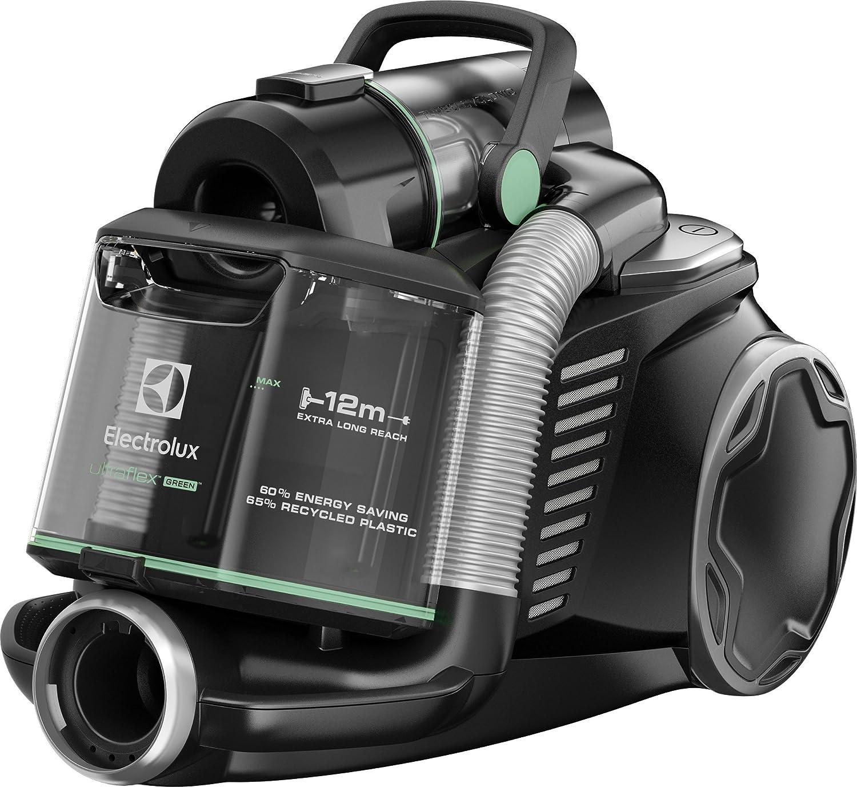 Electrolux - Aspirador sin Bolsa Ultraflex, Sistema Motion Control, Hygiene Filter 12, 1.6 L versión Verde Negro: Amazon.es: Hogar
