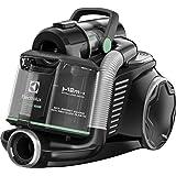 Electrolux EUF8GREEN Aspirapolvere senza Sacco Ultraflex, Sistema Motion Control, Hygiene Filter 12, 1.6 L, Versione Green, Nero