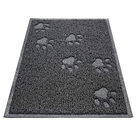 "KGA Alfombrilla de Cama Rectangular para Gatos Trash Catcher Alfombra Multifunción 16""X12"""