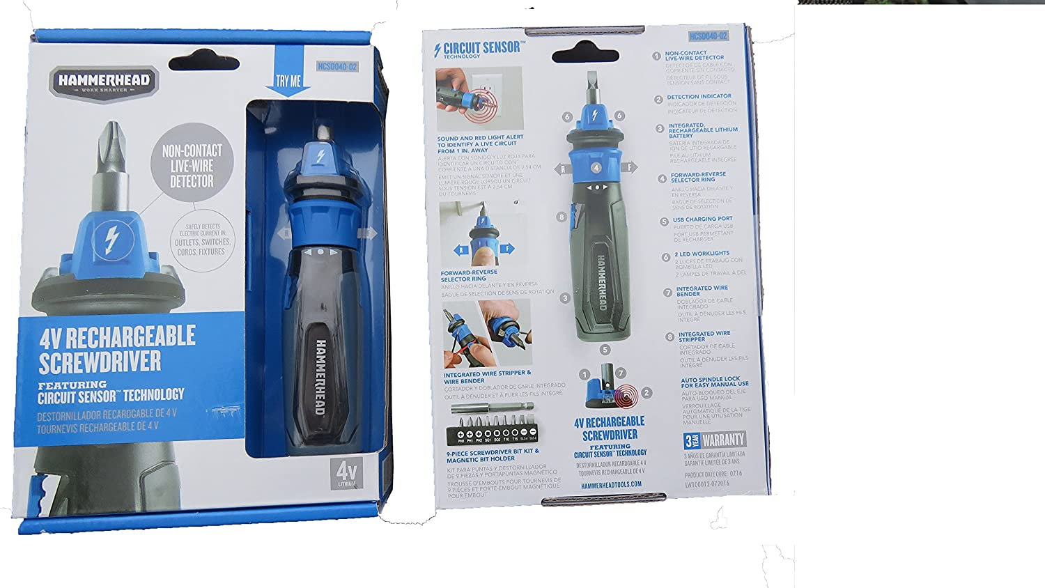 Rechargeable Screwdriver | Hammerhead Screwdriver | Hand Tools | Electric Hand Tools | Screwdriver - - Amazon.com