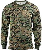 ROTHCO (ロスコ) Tシャツ ロングスリーブ 長袖 メンズ カモフラージュ Long Sleeve Digital Camo T-Shirts 60% Cotton 40% Polyester 全3サイズ 全4カラー
