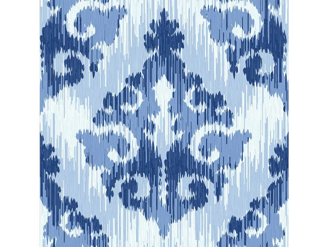 Decoraci/ón del Hogar Alfombra Estampado Damasco Exagonos Tonos Azules Multicolor PVC Moqueta PVC 95 cm x 200 cm Suelo vinilico