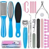 VIPPLUS Pedicure Kit 20Pcs/set Professional Pedicure Tools for Foot File Care Nail Salon Spa Stainless Steel Ingrown…
