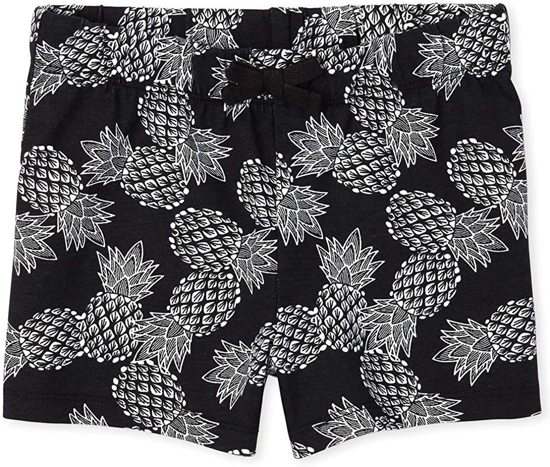The Childrens Place Girls Graphic Printed Drawstring Shorts