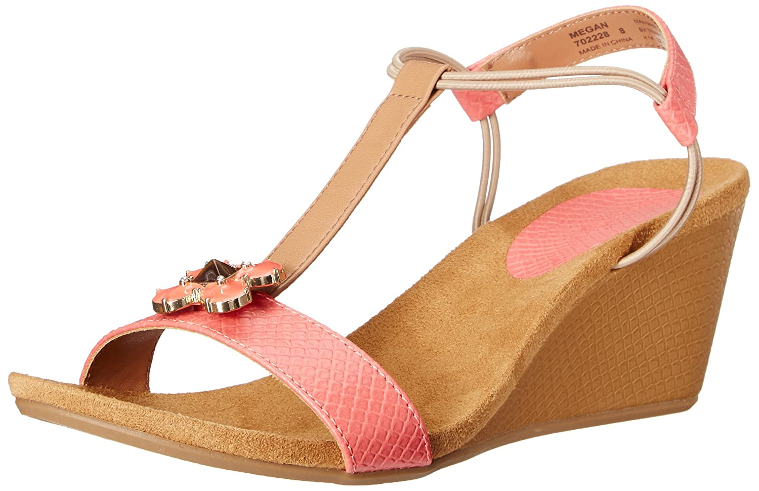 Lindsay Phillips Women's Megan Wedge Sandal B010TL41OA 9 B(M) US|Coral