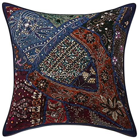 Amazon.com: India abalorio Patchwork Lentejuelas bordado ...