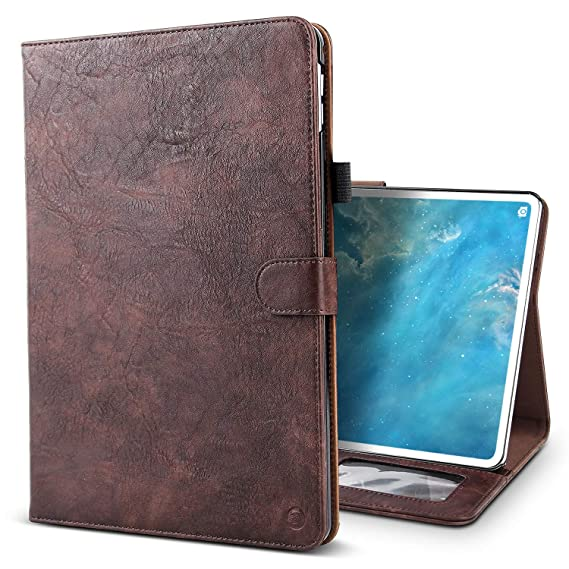 best sneakers ec613 30f82 iPad Pro 11 2018 Case,BELKA Vintage Luxury Leather Folio Flip Smart  Protective Cover Case with Card Slots & Pencil Holder & Magnetic Wake/Sleep  ...