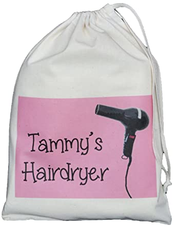 Personalised - Hairdryer Small Storage Bag - PINK DESIGN - Small ...
