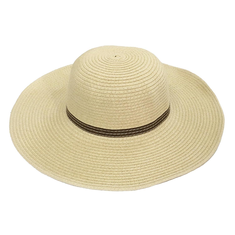 3f3ecdcbb0312 JTC Kids Summer UV Sun Hat Girls Floppy Wide Brim Straw Hat 6 Colors  (Beige)  Amazon.co.uk  Clothing