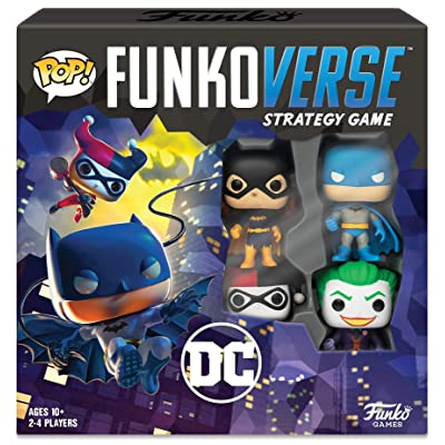 Funkoverse Strategy Board Game: DC Theme Set, 2-4 Players, Multicolored: Toys & Games