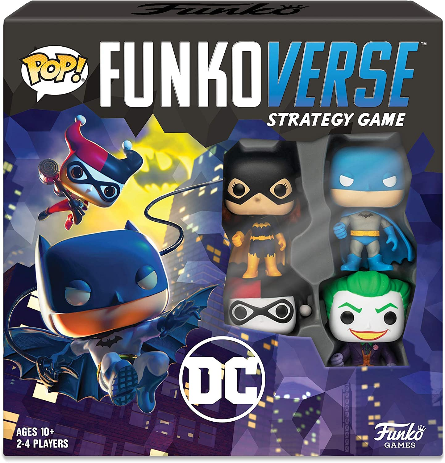 Funkoverse Strategy Board Game: DC Theme Set, 2-4 Players, Multicolored