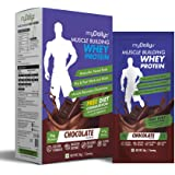 myDaily 100% Whey Protein Powder for Men - Muscle Building Protein with added Glutamine, Vitamins & Minerals, (Chocolate) - 238g, 7 servings in sachet form. Free Diet Consultation