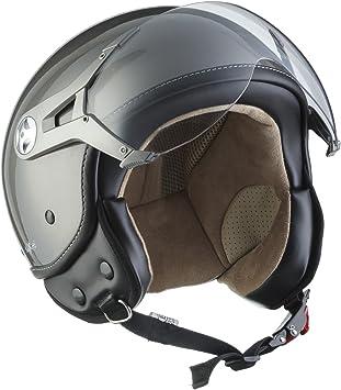SOXON SP-301 Italy Motorrad-Helm Roller-Helm Jet-Helm Bobber Scooter-Helm Pilot Cruiser Vintage Mofa Chopper Helmet Biker Vespa-Helm Retro Wei/ß Italy S Stofftragetasche inkl ECE zertifiziert 55-56cm