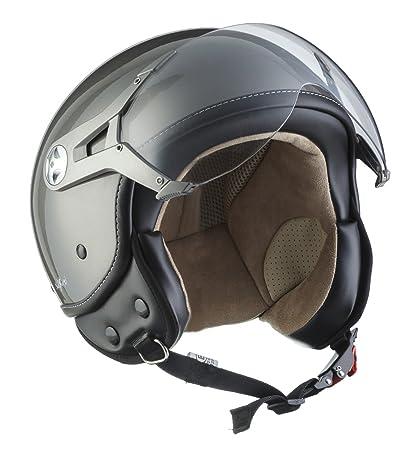 SOXON SP-325-MONO Titan · Biker Scooter Retro Chopper Vintage Urbano Casco Demi-Jet Bobber Helmet Cruiser Piloto Urban Vespa Mofa Moto motocicleta · ...