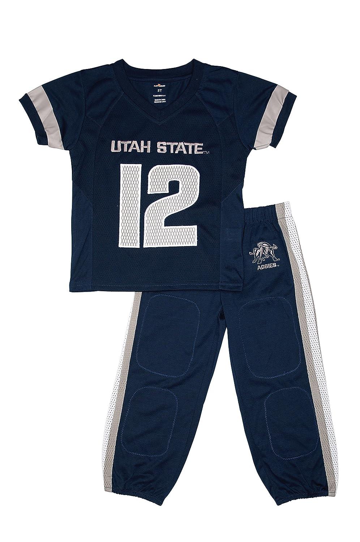 Fast Asleep Utah State Aggies Uniformパジャマセット新しい B07F7B73HL   4T