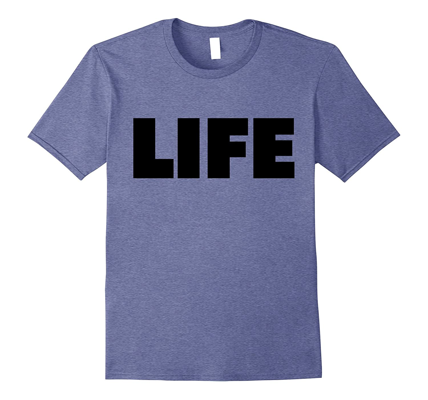 The word Life | A shirt that says Life - Black-FL