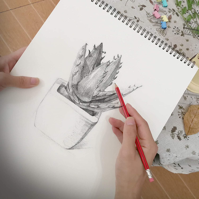 Eachgoo Skizzenbuch Kunst Spirale gebunden 100/% Recycling Zeichenpapier-A5 Querformat