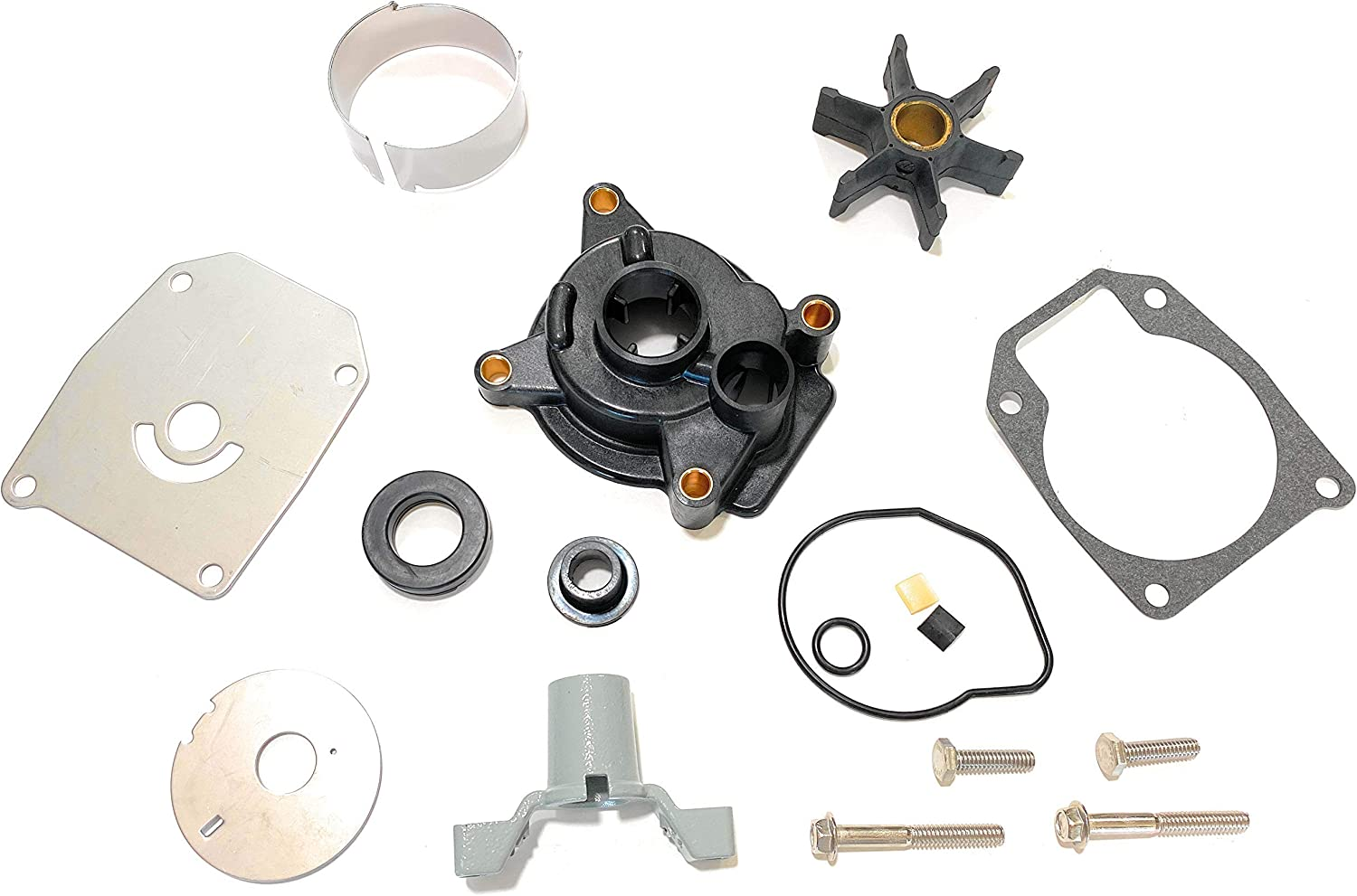 V G Parts Water Pump Impeller Kit for Johnson Evinrude 40-60 HP 1984 1985 1986 1987 1988 Replaces Sierra 18-3399, 439077 0439077