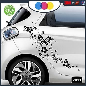 Parfait Stickers Pour Voiture   Fleurs Et Farfalle  Voiture Machine   Nouveauté.  Auto Moto,