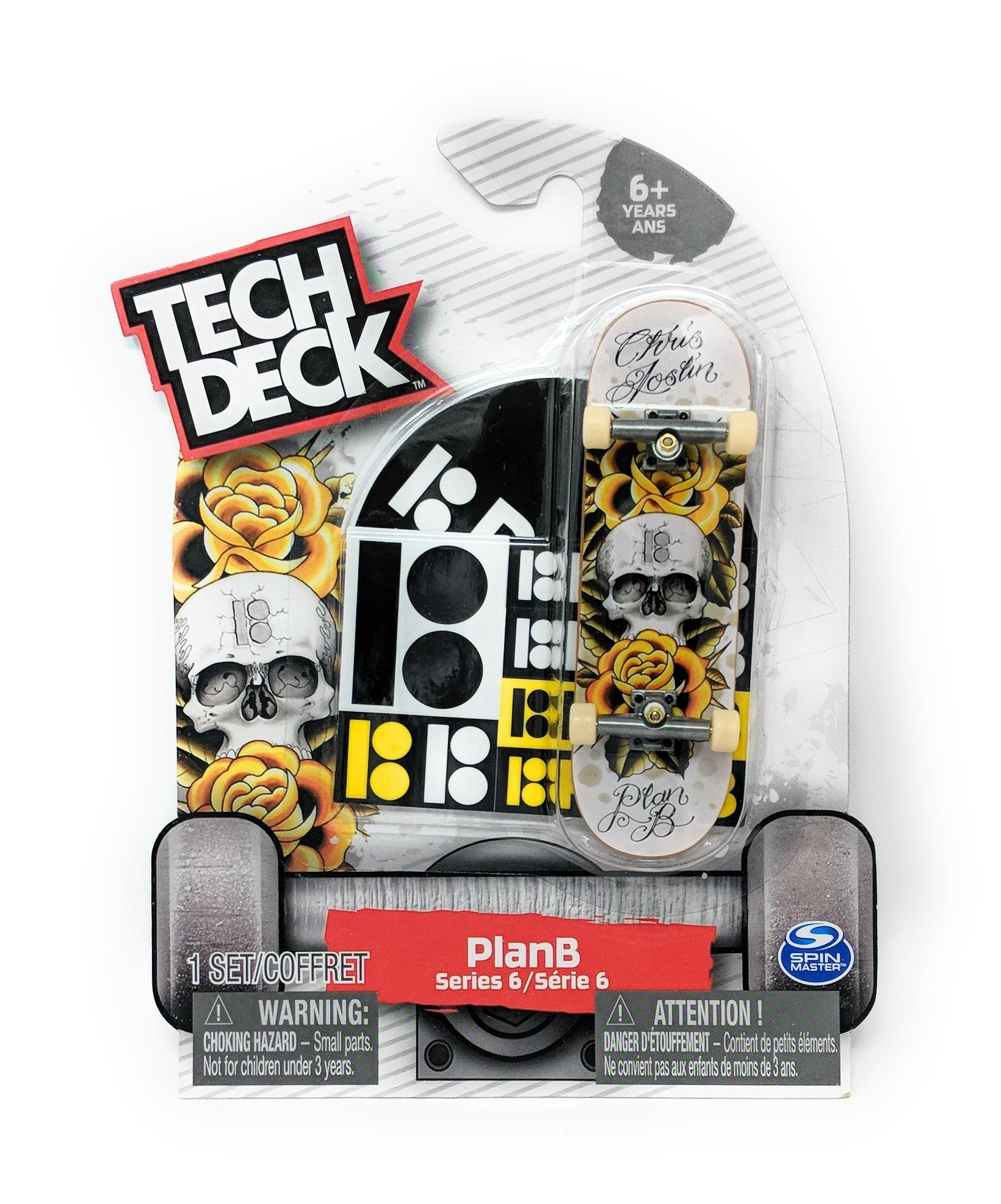 fingerboard Tech Deck PLAN B Series 6 Skull and Roses Chris Joslin Rare #20087773