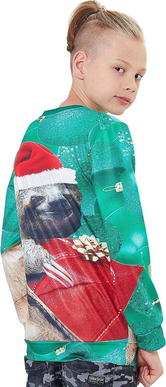 UNICOMIDEA Kids Ugly Christmas Sweatshirts Cool Boys Pullover Girls X-mas Sweater for 4-16 Years