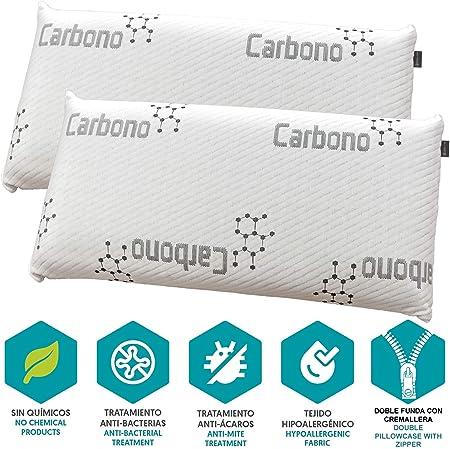 DHestia - Almohada Viscoelástica Carbono Activo Anti Malos Olores ...