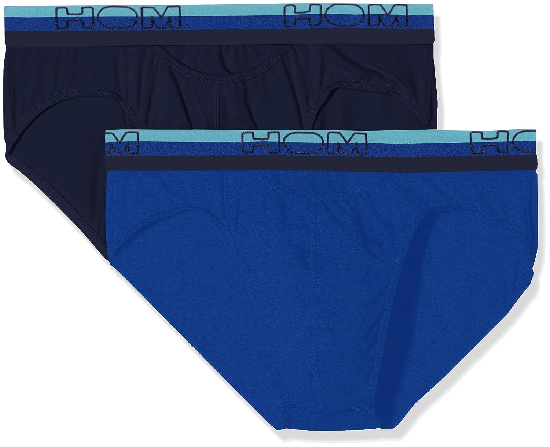 HOM Boxerlines #2 Mini Briefs HO1, Calzoncillos para Hombre, Azul (Navy+Blue), XX-Large(Pack de 2): Amazon.es: Ropa y accesorios