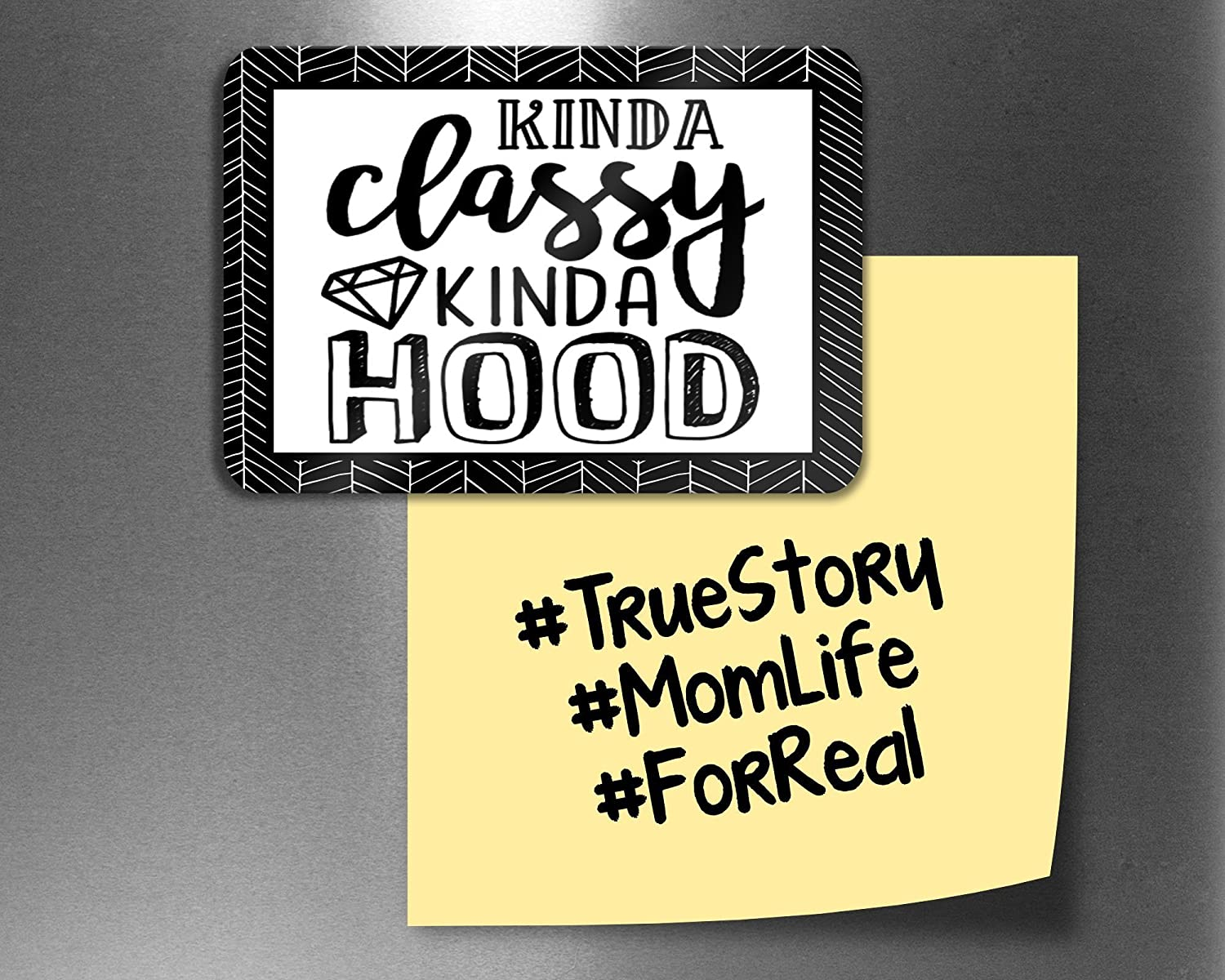 Kinda Classy Kinda Hood Funny Fridge Magnets, Refrigerator Magnets with  Quotes, Funny Kitchen Decor Noticeboard Office Supplies, Best Housewarming  ...