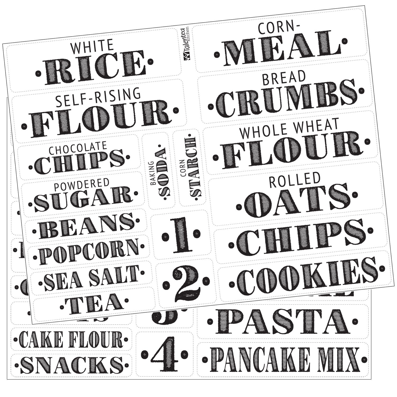 Kitchen Pantry Labels: Amazon.com