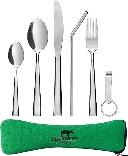 Amazon.com: Tapirus Camping utensilios de comer to go ...