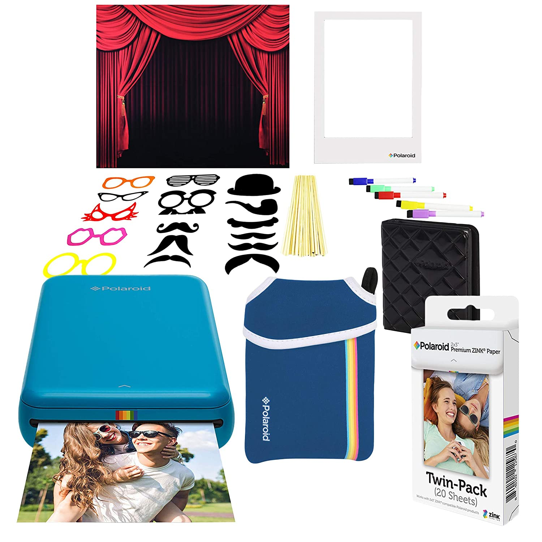 Polaroid Zip Impresora de Fotos Inalámbrica (Azul) Paquete ...