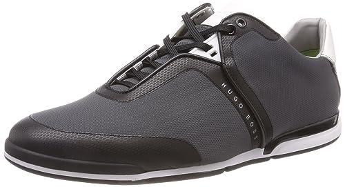 0145a2c3 BOSS Men's Saturn_Lowp_tech2 Low-Top Sneakers, (Dark Grey 021), 7 UK ...