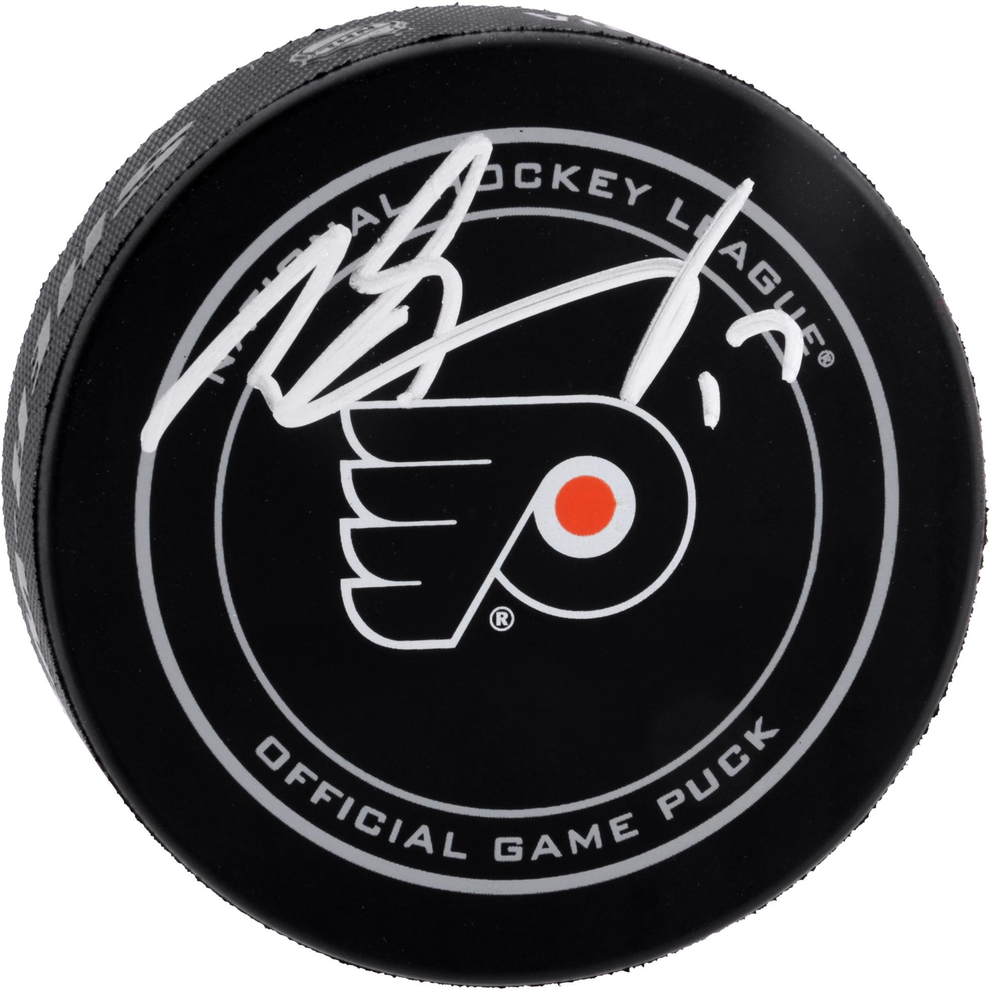 Wayne Simmonds Philadelphia Flyers Autographed Official Game Puck Fanatics Authentic Certified Autographed NHL Pucks