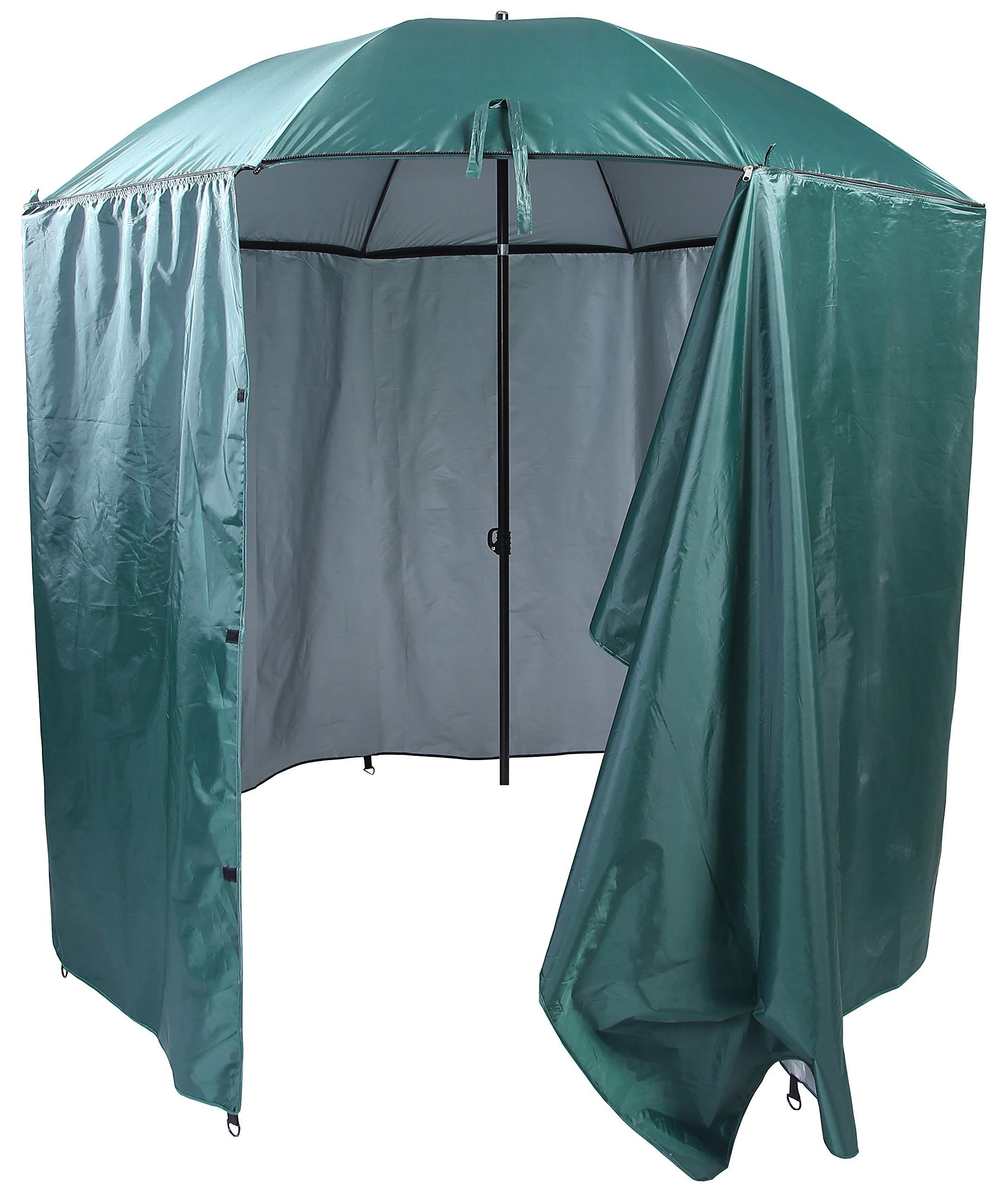 DDYOUTDOOR Portable Waterproof Camping Beach Fishing Picnic Shade Tent Canopy Umbrella Sunshade Cabana Sun Shelter (Dark Green) by DDYOUTDOOR