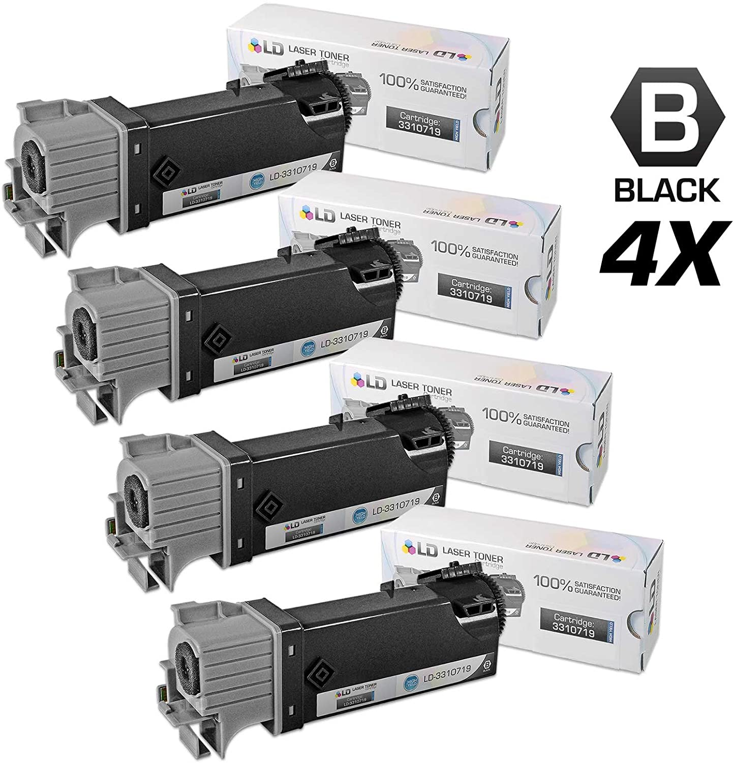 331-0719 for Dell High Yield Black Toner Cartridge MY5TJ 3310719 N51XP 2150 2155