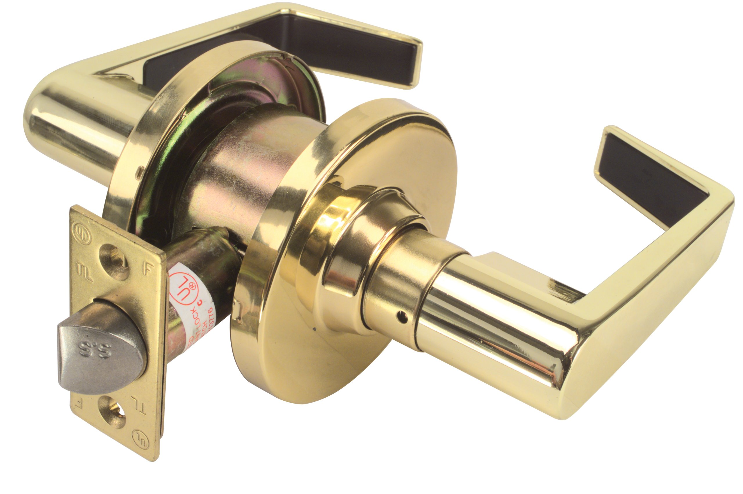Legend 809258 Grade 2 Commercial Duty Passage Hall and Closet Leverset Lockset, US3 Polished Brass Finish by Legend