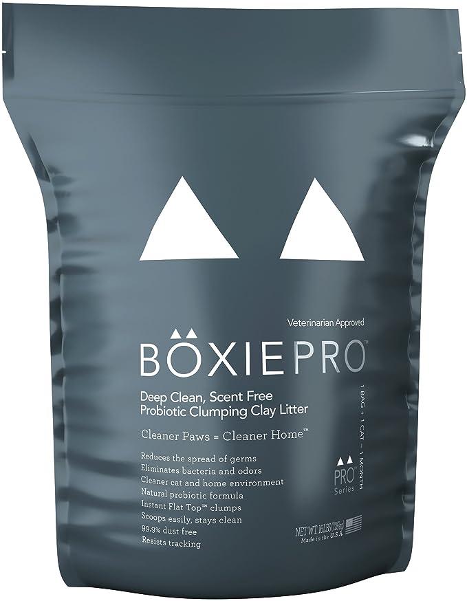 Boxiecat Deep Clean, Scent Free, Probiotic Clumping Litter, 16 lb