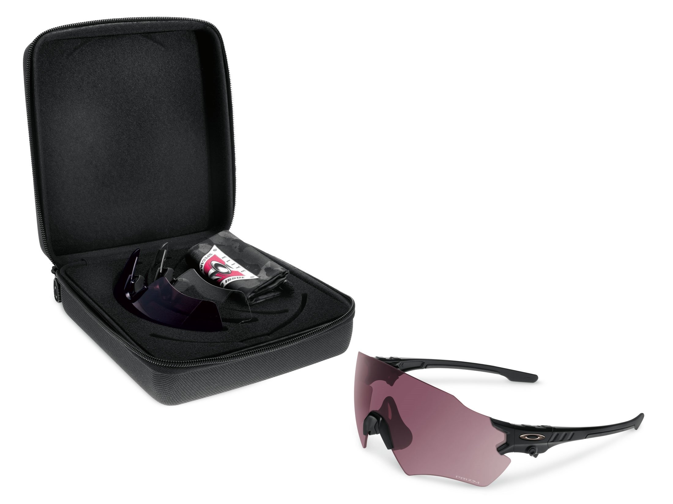 Oakley Si Tombstone Reap PRIZM w/ 3 Lens Array (Clear, Tr22, Tr45) Shooting Glasses, Matte Black by Oakley