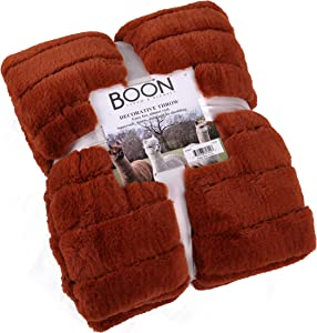 Home Soft Things Boon Super Mink Faux Fur Throw with Sherpa Backing, 60