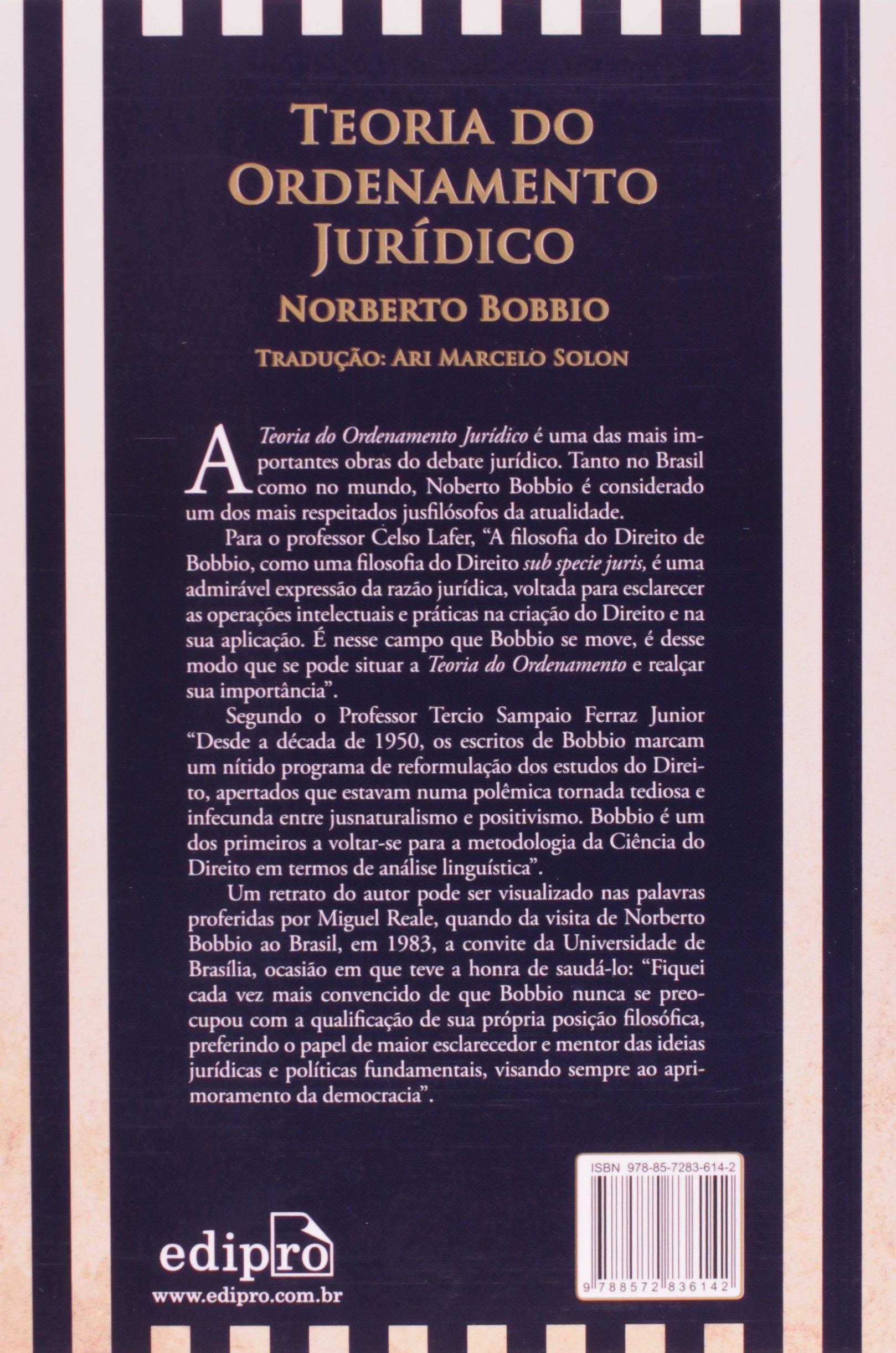 NORBERTO LIVRO TEORIA DE ORDENAMENTO BOBBIO JURIDICO BAIXAR DO