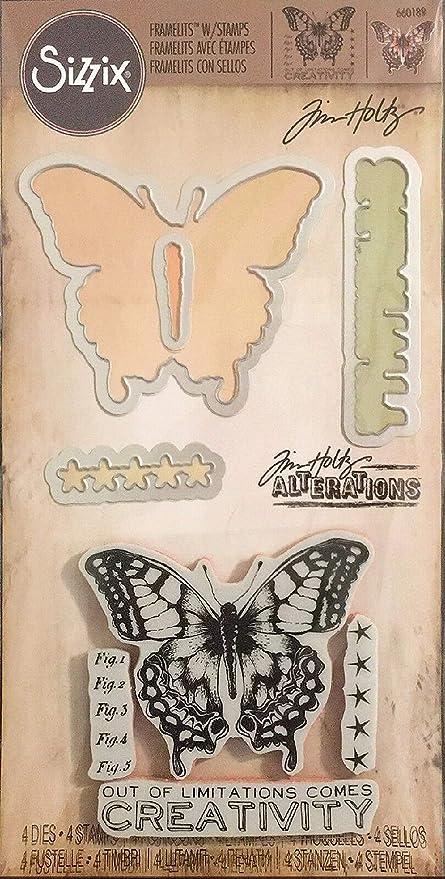 Sizzix Framelits Dies By Tim Holtz 14//Pkg-Entomology